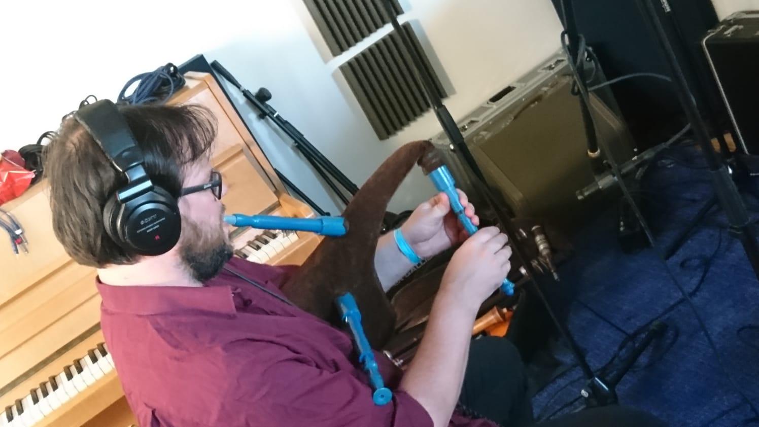 In de studio: Wouter